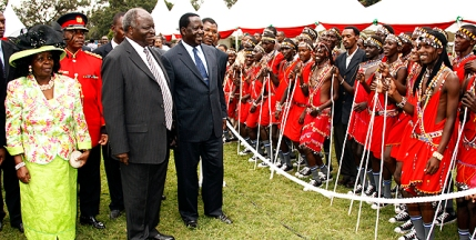 Kibaki during the Madaraka day