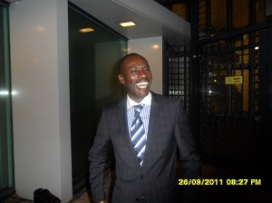 African Press International photo: Barrister and Solicitor Essa M. Faal, part of Mr Muthaura's team at the ICC