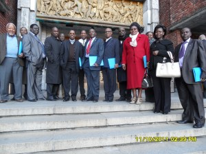 African Press International photo: Kenya delegation on study tour in Norway Standing outside Oslo City Hall 11.October 2011