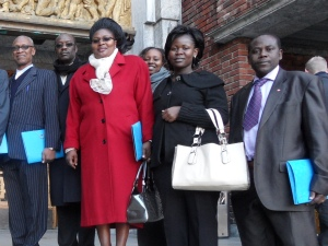 African Press International photo: Kenya delegation on study tour in Norway Standing outside Oslo City Hall 11.October 2011. photo 2a