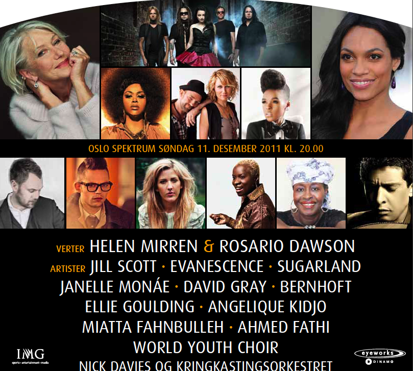 www.africanpress.me - Nobel Peace Prize Concert Oslo Spektrum will be top on 11th December 2011