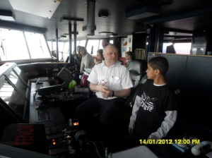 www.africanpress.me - Some passengers were privileged to meet the Captain and his crew at the Steering Room.