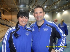www.africanpress.me = Oppsal women handball Coach Mr Djordje Teodorovic and Assistant Coach Mrs Sorina Teodorovic make history enabling the club to qualify for a place in Norway's top handball elite series in the coming season