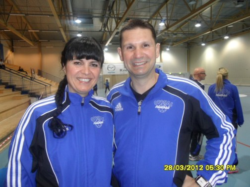 www.africanpress.me = Oppsal women handball Coach Mr Djordje Teodorovic and Assistant Coach Mrs Sorina Teodorovic made history enabling the club to qualify for a place in Norway's top handball elite series this season