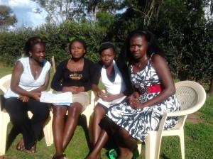 www.africanpress.me/ Grace with girls at Masinde Muliro University