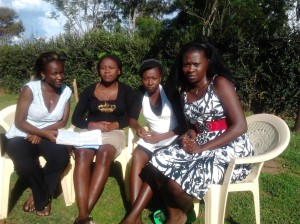 www.africanpress.me/ Grace with girls at Masinde Muliro University