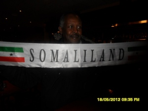 www.africanpress.me/ A Somaliland patriot celebrating his country's independence in Oslo Norway, 18th. May 2012