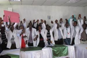 www.africanpress.me/ Clinical officers on strike in Kenya