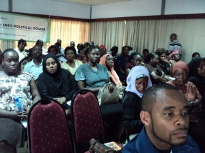 www.africanpress.me/ Mombasa residents at a public forum on women leadership.