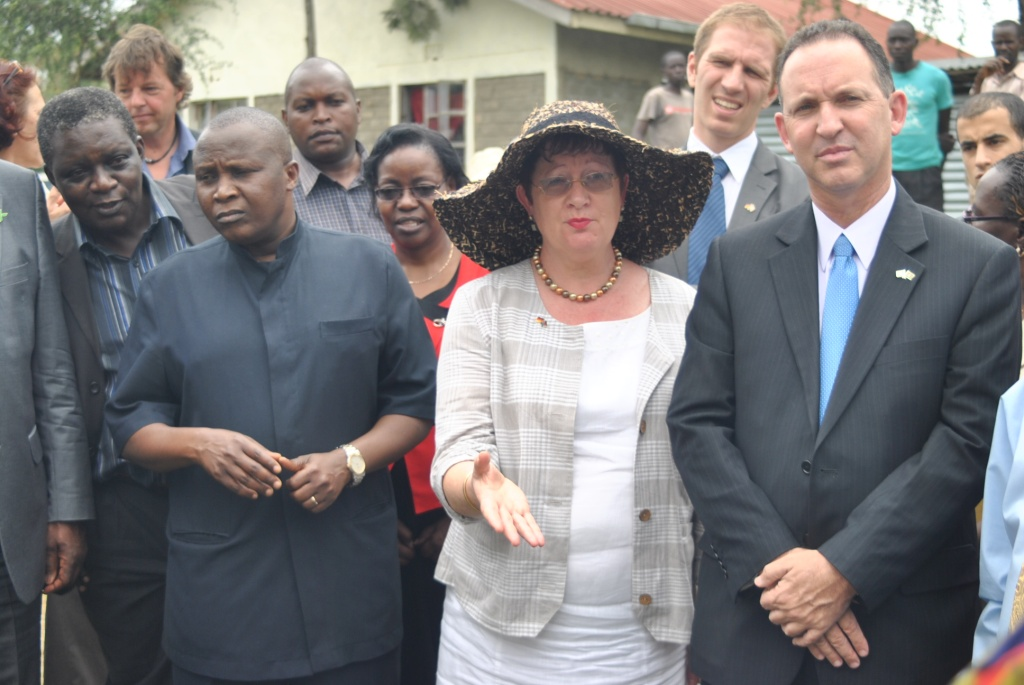 www.africanpress.me/  Left,Permanent Secretary Prof Micheni Ntima with German Ambassador Margit Hellwing-Boette and Israel Ambassador Gil Haskelat during fish farming projects tour in Kisumu County.