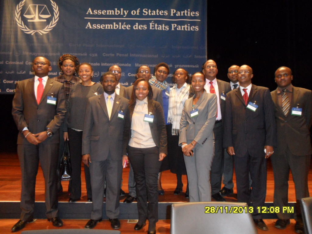 www.africanpress.me/ Some of the members of the Kenya Delegation during the Twelfth Session of the Assembly of States Parties held in the Hague from the 20th to 28th of November 2013