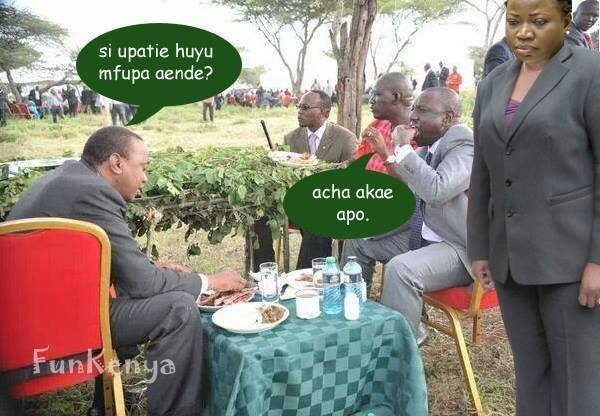 www.africanpress.me/ The ICC saga continues with President Kenyatta, Deputy President Ruto and Prosecutor Bensouda (standing)