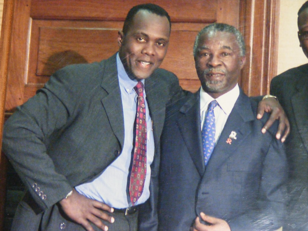 JK. With Former South African President, Thabo Mbeki in his office in Pretoria, 1999