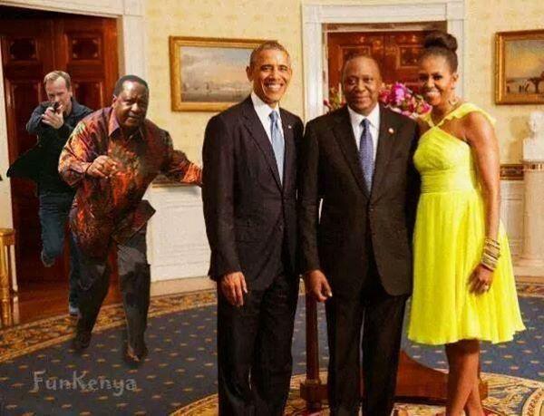 www.africanpress.me/ President Uhuru Kenyatta in the White House with Mr and Mrs Obama